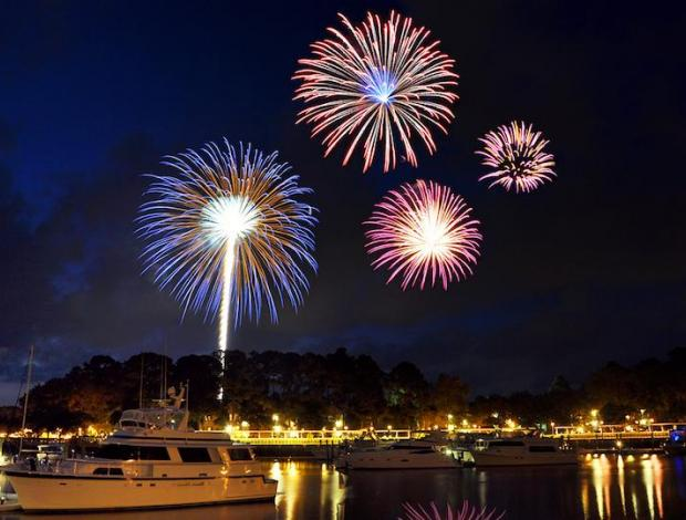 Summer Fireworks at Shelter Cove Hilton Head Island